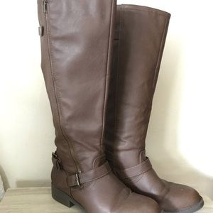Brown Knee High Leather Boots